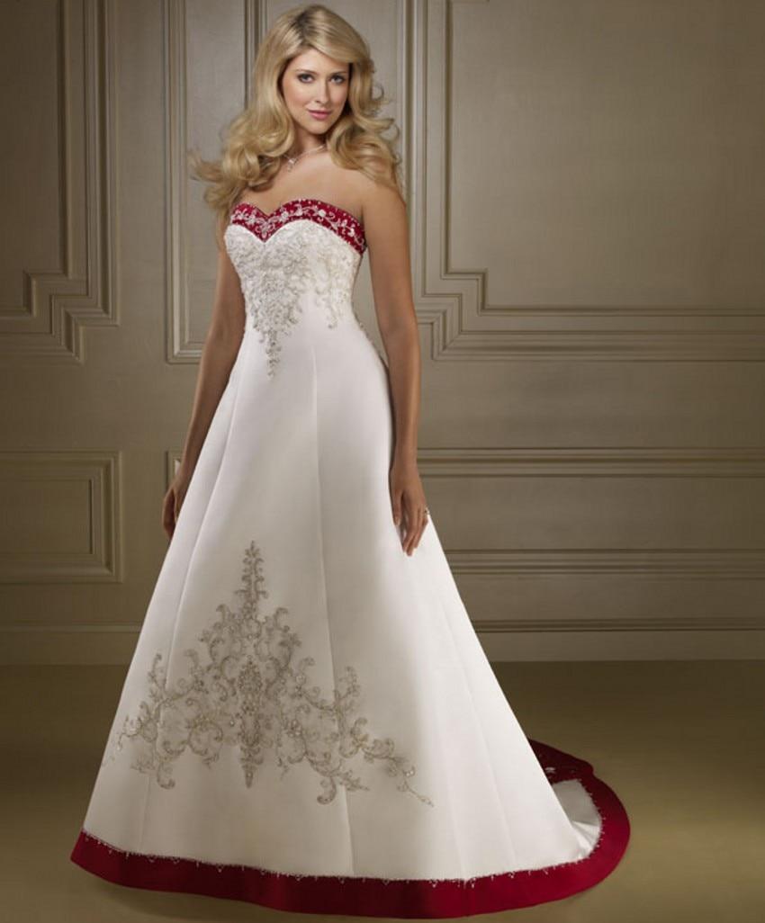 Bride Bridal Cheap Red And White Wedding Dresses China Robe De Mariage  Mariee Wedding Gowns Gelinlik Trouwjurk Bruidsjurken In Wedding Dresses  From Weddings ...