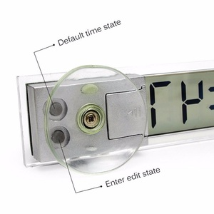 Image 5 - Car Electronic Digital Clock Suction cup Mini Digital LCD Display Clock For Center Console Front Windshield Car Ornaments