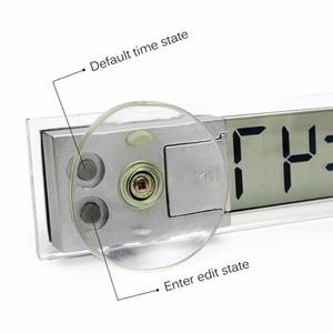 Image 5 - רכב אלקטרוני דיגיטלי שעון יניקה כוס מיני דיגיטלי LCD תצוגת שעון עבור מרכז קונסולת מול שמשה קדמית רכב קישוטים