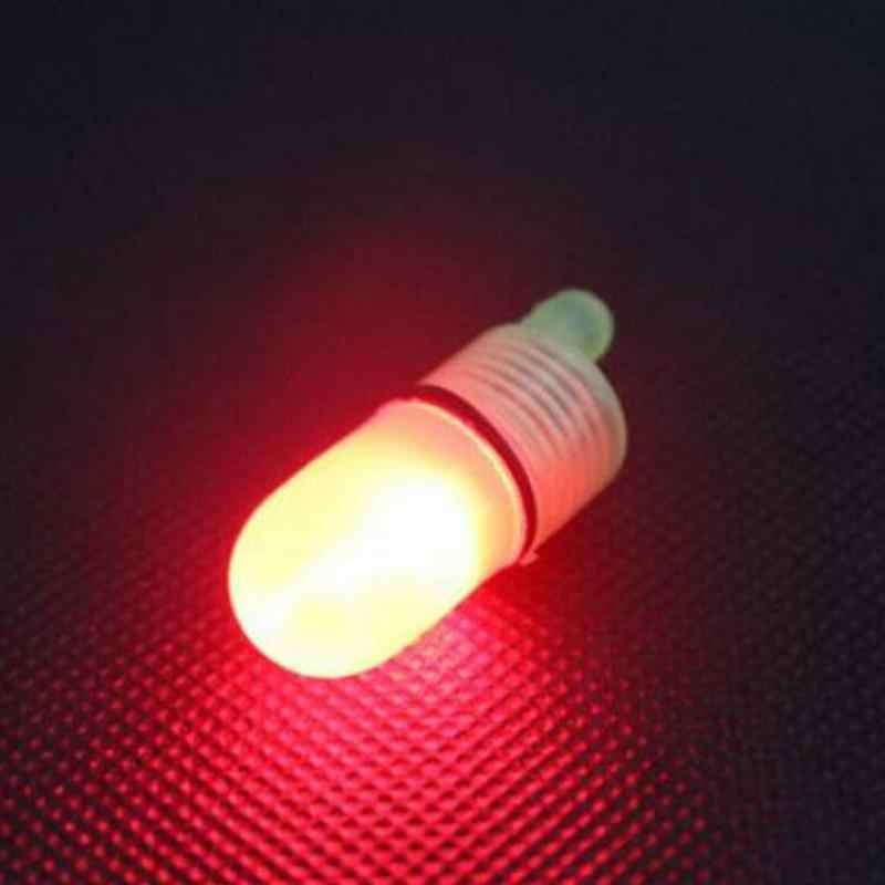 1Pcs Hot Koop Led Light Twin Bells Ring Delciate Night Hengel Tip Rode Vis Aas Alarm Vissen Accessoires groothandel