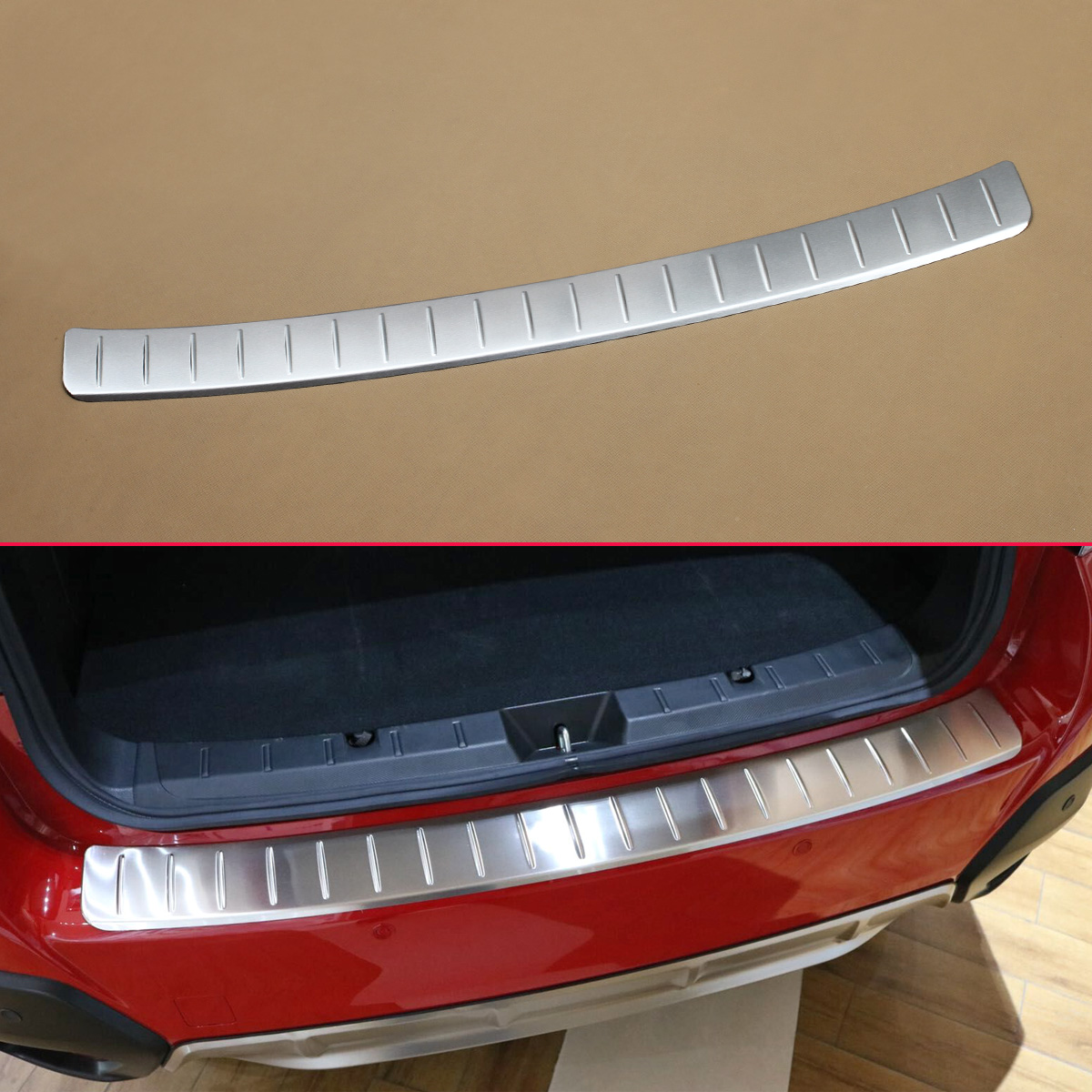 Stainless Steel Car Styling Rear Trunk Sill Cover For 2018 Subaru Crosstrek XV Bumper Protector Scuff Plate Overlay Accessories stainless steel interior rear bumper protector sill rear trunk scuff plate trim for peugeot 408 2014 2015 car styling accessory