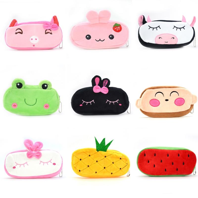 Pencil Case Plush Cactus Pennen Etui Kids For School Trousse Scolaire Estuche Kawaii Pensil Girls Maquillage Femme