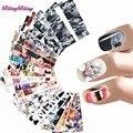 24 Estilos de Uñas Pegatina Marilyn Monroe Diseño Tatuajes Audrey Hepburnl Nail Wraps de Transferencia de Agua Del Arte Del Clavo Foil Nails Decoraciones