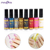Pinpai 8ml Nail art Glitter Spinne Gel Malerei Ziehen Linie Zeichnung Glitter Gel Nagellack Maniküre Pinsel Für Nägel kunst Dekor