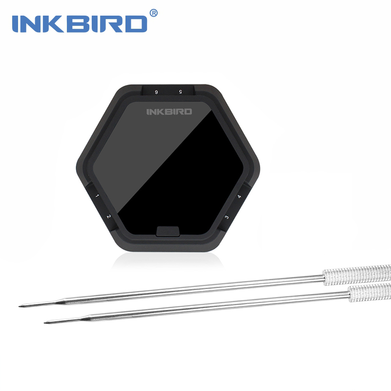 Inkbird Electronic Digital Bluetooth Wireless BBQ Thermometer IBT-6X Black For Cooking Oven Grill Meat Android IOS Compatible topg first choice chef cooking thermometer instant read best digital thermometer for meat poultry bbq and candy lifetime guarantee