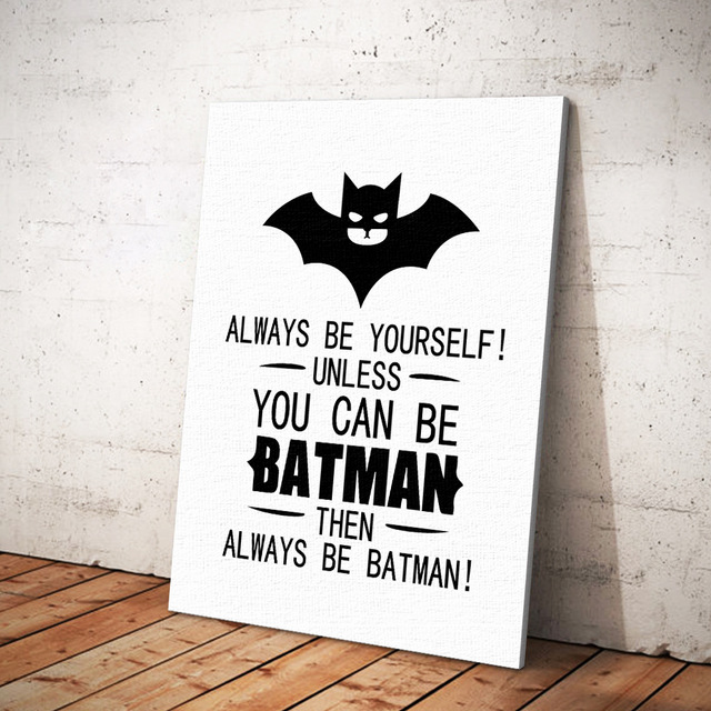 Canvas Art Print Painting Poster Wall Pictures For Child Room Decoration Cartoon Wall Decor Simple Bat Poster Canvas Painting