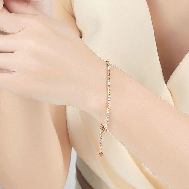 Gold Laser Beads Strands Bracelet 2