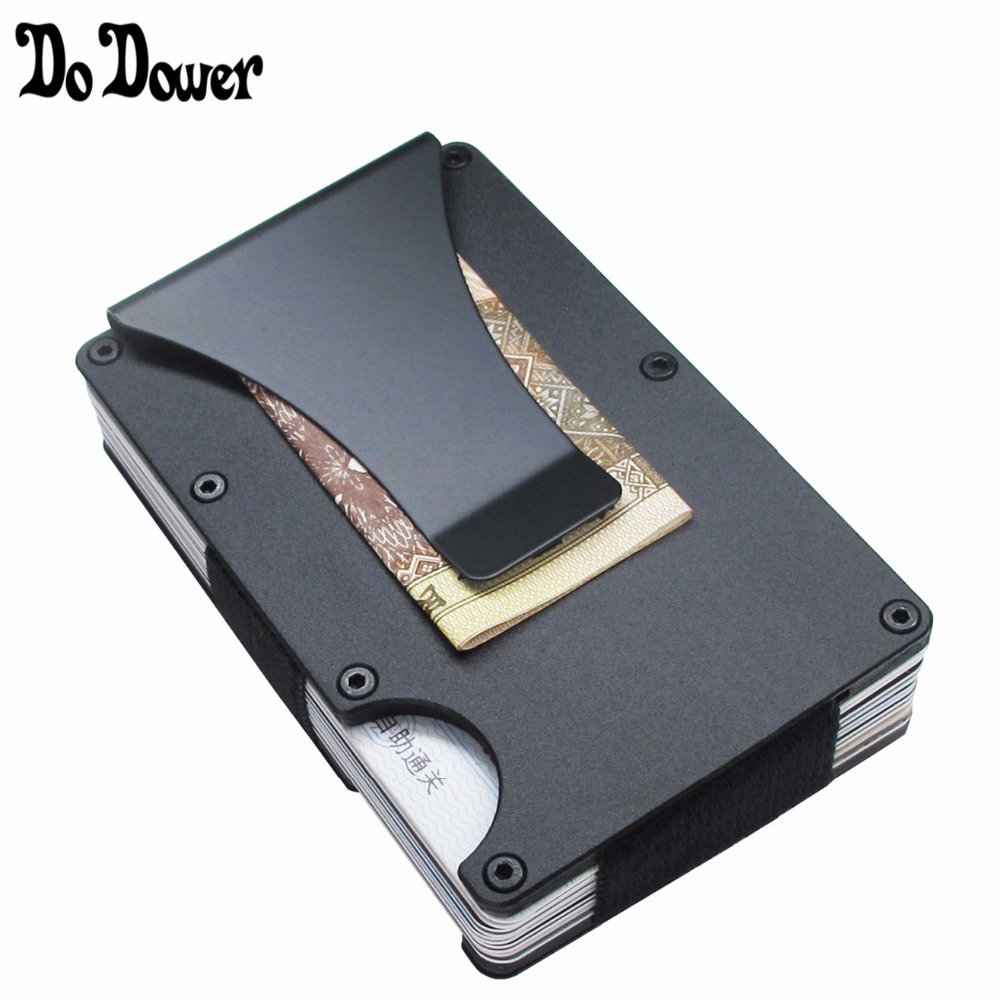 Slim Metal Credit Card Holder With RFID Anti-chief Travel Mini Wallet For Men Women Cardholder Porte Carte Male Wallet