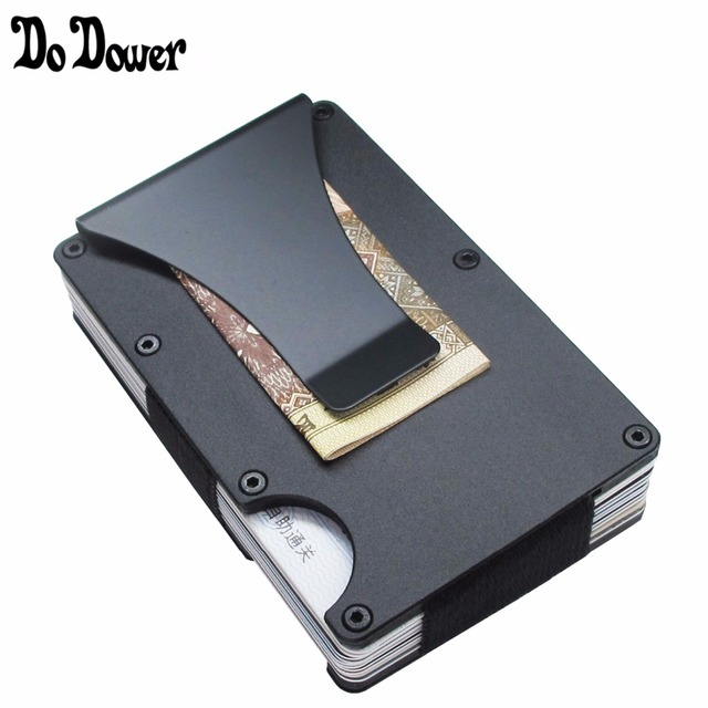 bebfc6a51ba Slim Metal Credit Card Holder With RFID Anti-chief Travel Mini Wallet For  Men Women Cardholder Porte Carte Male Wallet