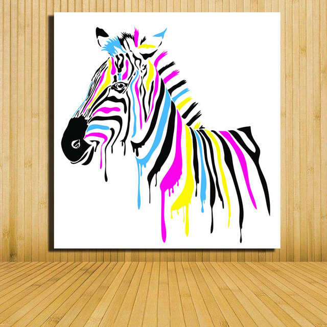 High Quality Watercolor Abstract Pop Art Painting Zebra Wall Art Oil Painting Home  Living Room Decoration Cartoon Picture