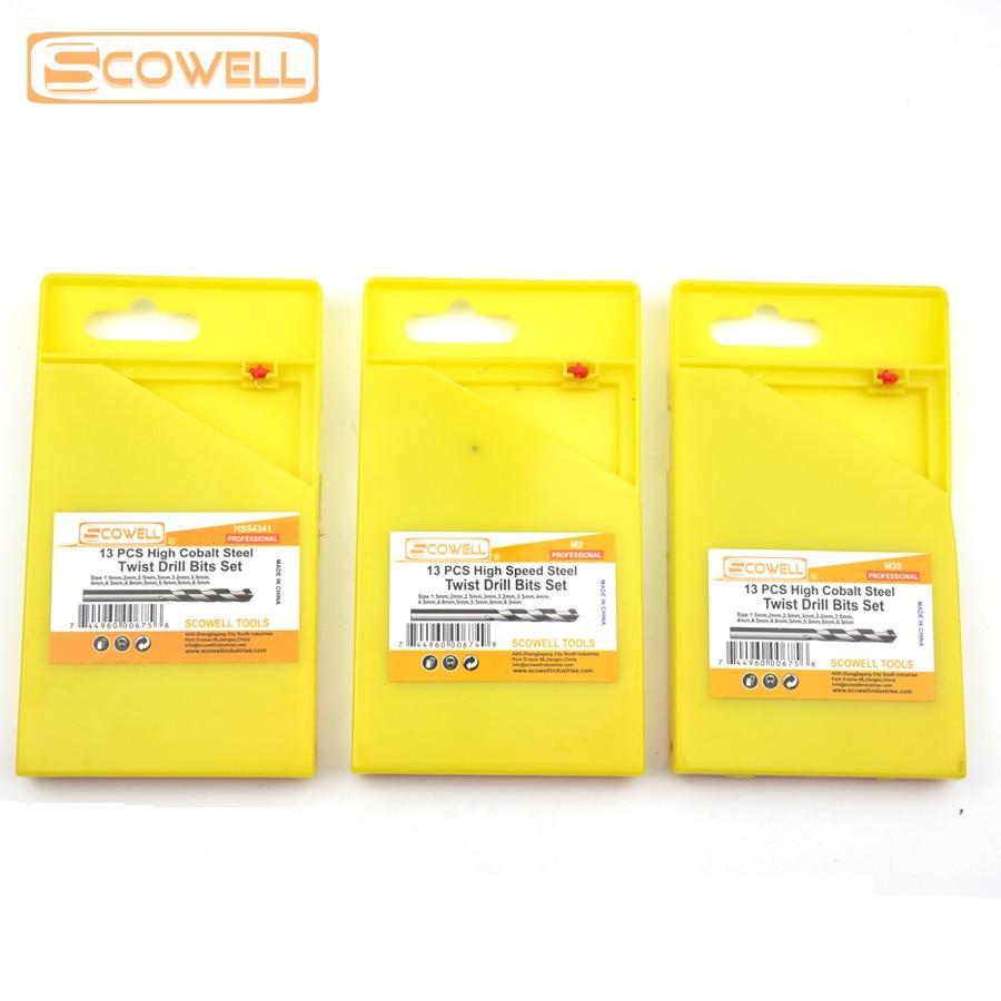 35% DE RÉDUCTION SCOWELL 13 pcs HSS M2 forets set metal drill HCO - Foret - Photo 6