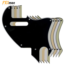 цена на Pleroo Guitar parts Pickguards For Fender American Telecaster F hole Hybrid Guitarra Scratch Plate Support customization