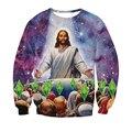 Новая Мода Мужчины Женщины 3d Толстовки Иисус Умер За Ваши Симы Crewneck Толстовка Galaxy Dimonds Во Всем Печати Мужчин Пуловеры