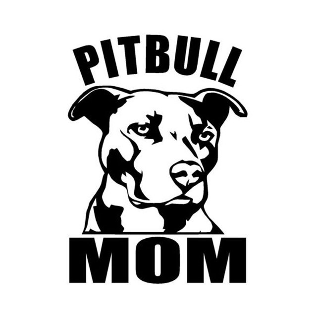 10 1cm14 2cm Car Styling Pitbull Mom Animal Window Stickers C5 1397
