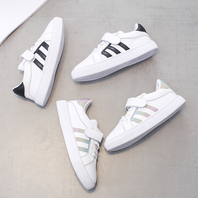Children Outdoors Running Shoes Kids Original Superstar Breathable Boy Girl  Comfortable Genuine Leather Smith Sneakers 82832c7db30e