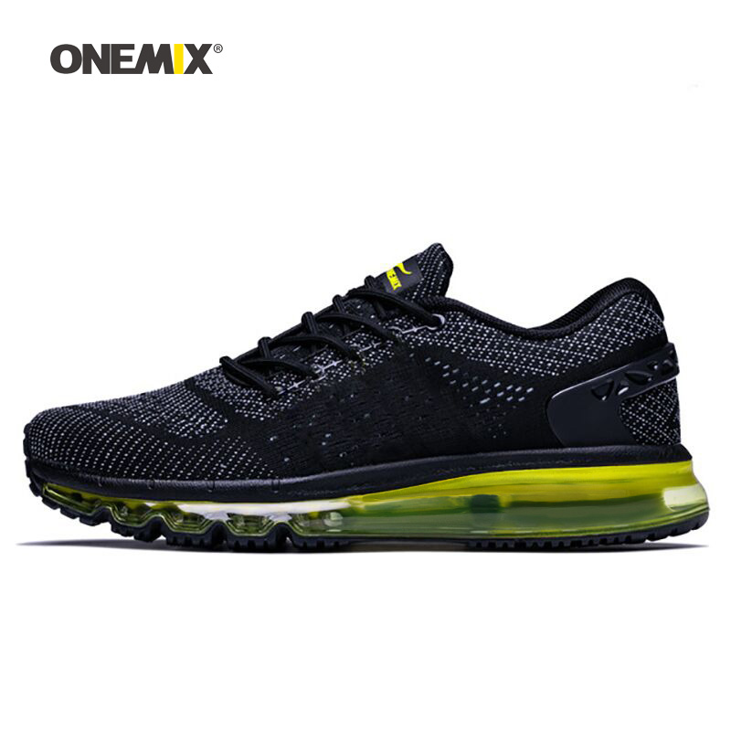 ONEMIX 2019 Max Men Walking Shoes For Women Cushion Fitness Trail Athletic Trainers Tennis Sports Black
