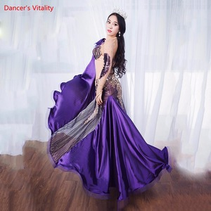 Image 3 - Women Belly Professional Dancing Costumes Ladies 2018 NEW Dance Dresses Belly Dance Luxury Bra + Long Skirt 2Pcs / Set Suit