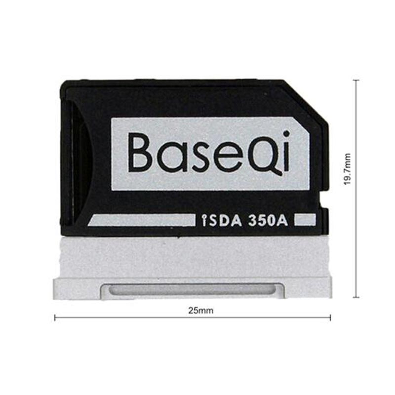 Original Baseqi Aluminum MiniDrive MicroSD Card Adapter For Surface book Lenovo Yoga Dell XPS&Asus Zenbook Flip Laptop 13.5 inch