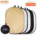 Godox 5 in 1 90*120 cm Achtergrond Boord Ronde Rechthoek Reflector Inklapbare Verlichting Diffuser Disc Zwart Zilver Goud wit