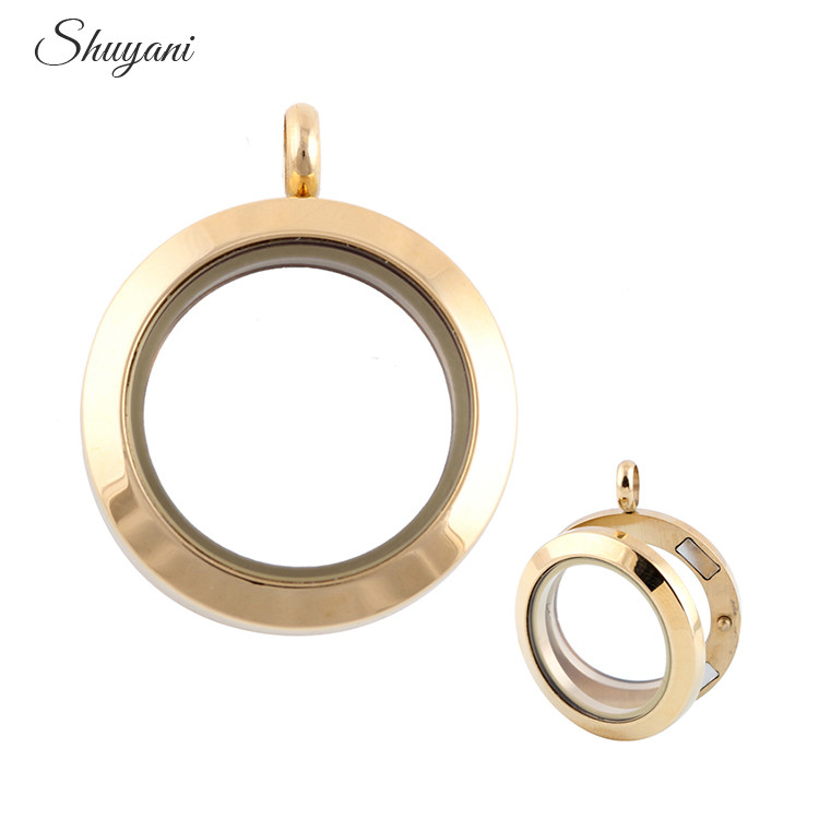 5pcs high quality 4colors 25mm stainless steel floating locket high quality 4colors 25mm stainless steel floating locket openable magnetic glass locket pendant wholesale aloadofball Choice Image