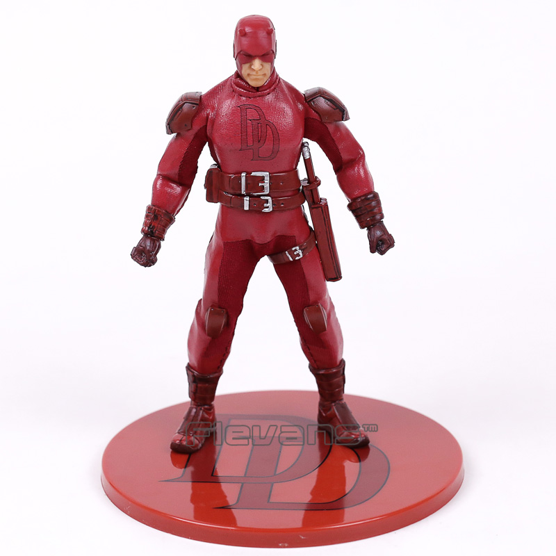 MEZCO Marvel Daredevil 1/12 Scale PVC Action Figure Collectible Model Toy 16cm 1 6 scale model metal gear solid v the phantom d dog diamond dog about 23cm collectible figure model toy gift