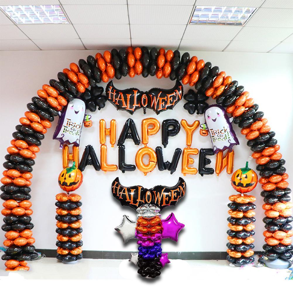 Groothandel Halloween Decoratie.Kopen Goedkoop Halloween Ballon Set Bat Kolom Decoratie Pentagram Aluminium Film Party Arrangement Vakantie Partij Prijs Rnrckoop