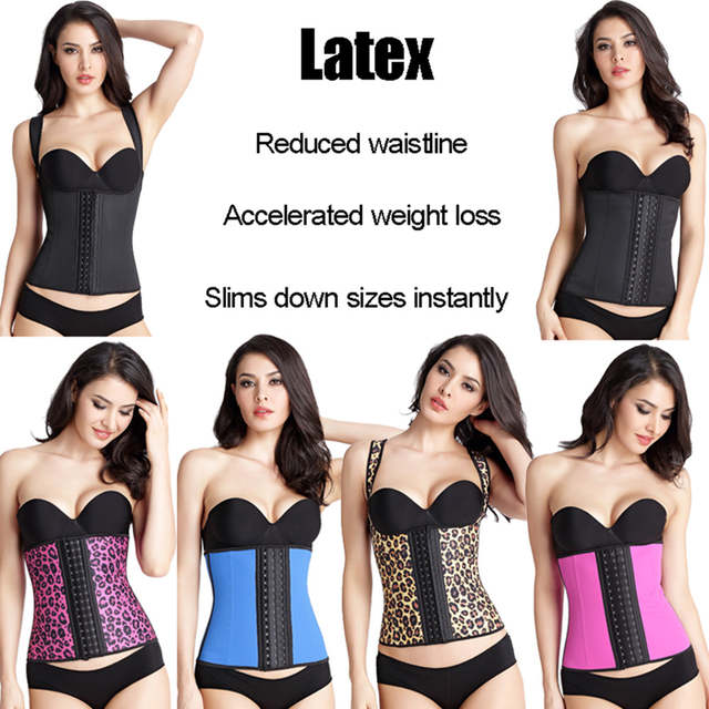 0418fabffd placeholder Women Corset Latex Waist Trainer Shapers Lose Waist Cincher  Tummy Slimming Belt Underwear Hot Body Shaper