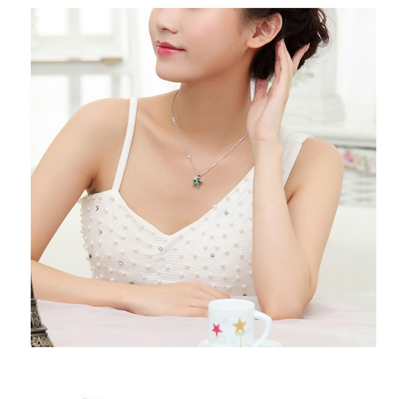 Baffin Trendy Fashion Design Women Girl Gifts Moon Stars Pendant Necklace Crystal Form Swarovski Elements Necklace Accessoires Pendant Necklaces Jewelry Accessories Aliexpress