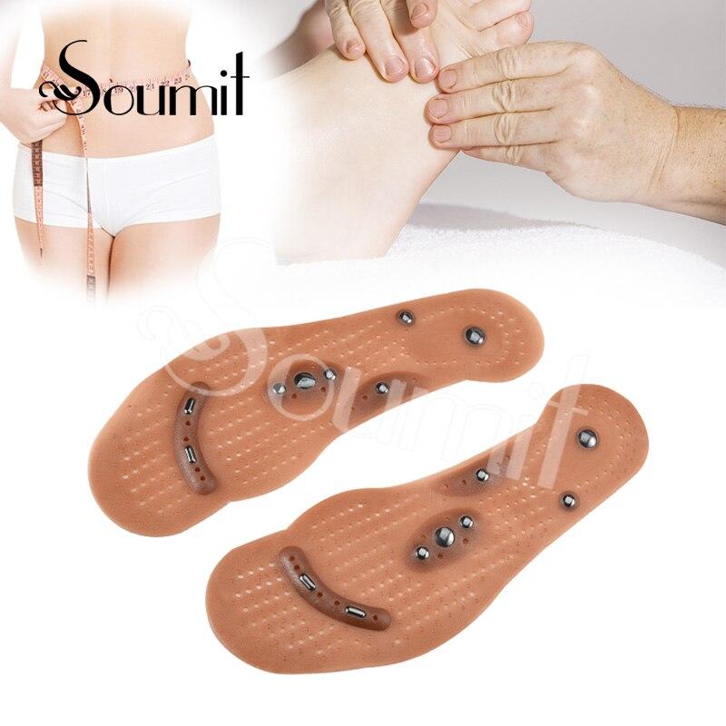 Soumit магнитотерапия массаж стельки для Для мужчин Для женщин Вес потери повышает циркуляцию крови стопы магнит здравоохранения обуви колод...