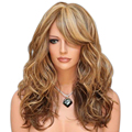 new sexy women hair long light blonde curly wig ombre wigs heat resistant cheap synthetic wigs lolita party wig peruca cosplay