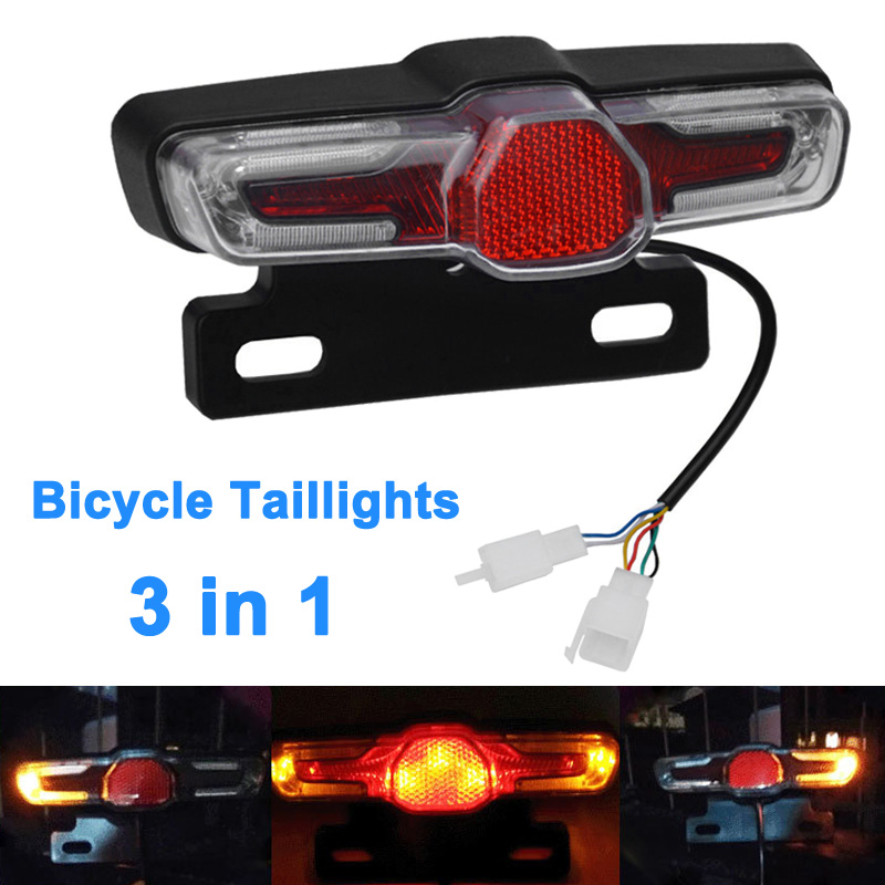 LED Taillight Indicator Brake Light 36V-48V For E-Bike Electric Bicycle MSD-ING