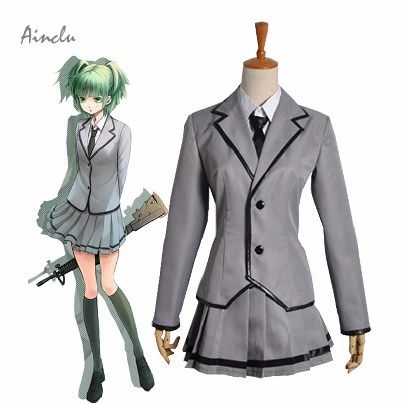 Ainclu Free Shipping Assassination Classroom Kunugigaoka Junior High School Class 3-E Girl's School Uniform Cosplay Costume