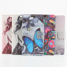 Color Painted Flip Cover Leather Phone Cover Case With Stand Card Slot For Ulefone Future 5.5 Inch MTK6755 Octa Core Smartphone