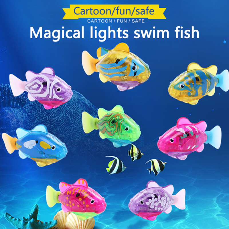 5pcs Electric Fish Toy Pet Fish With Aquatic Gift for Kids Children Activated Robotic Fish can Swims random color