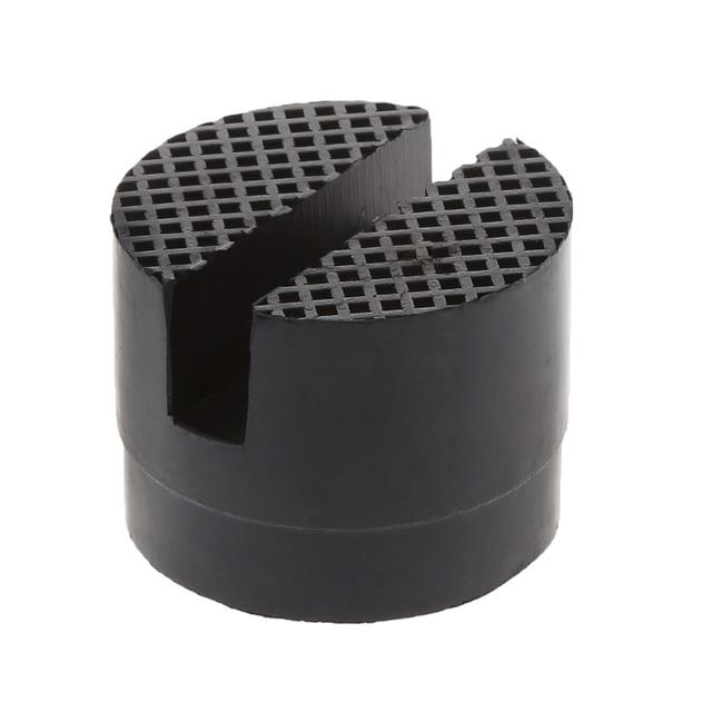 Útil piso negro ranurado de goma del coche del gato del marco del Protector del adaptador de la herramienta de la almohadilla del disco para pellizcar la elevación lateral de la soldadura disco
