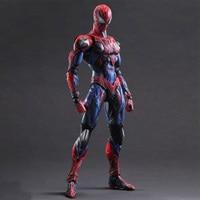 28cm Spiderman 1pcs The Amazing Spiderman Play Arts Kai Action Figure Marvel Collection Model Dolls Kids