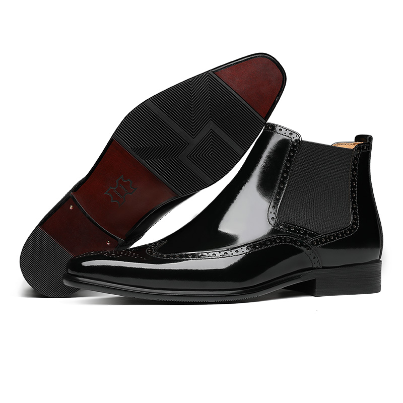 Top Ankle 2019 Sapatos Fashion Marca Bota De Homens Genuíno Couro Masculina Vestem Luxo Confortável Dos Mycoron Boots Sapatas Preto Se q6wOW7T7c