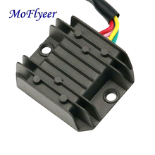 MoFlyeer Motorcycle 4 Pins Wires Voltage Regulator Rectifier GY6 150-250cc ATV Quad Moped Scooter Buggy  Motorbike