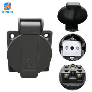 EU European Waterproof IP54 Industrial AC Electrical Power Female Socket Outlet Rewireable Plug Adaptor Extension Cord Connector(China)