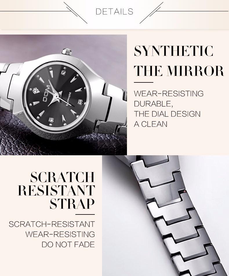 572d0d65423 DOM Moda Assistir Mulheres Vestido relógios de quartzo relogio ...