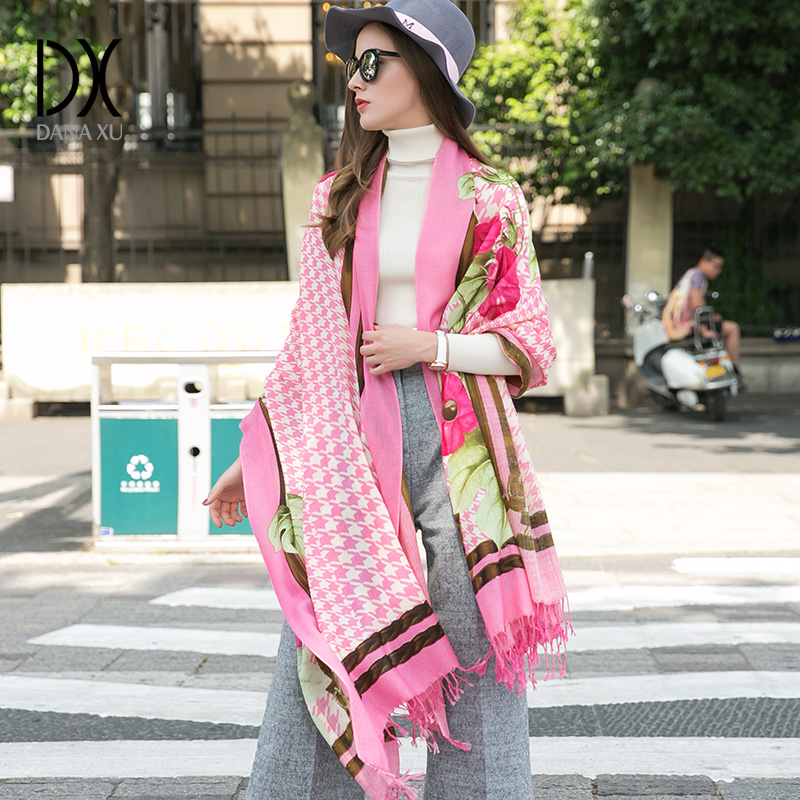Scarf   2019 Luxury Brand Tartan Cashmere   Scarf   Women Wool Plaid Blanket   Scarf   Pashmina   Wrap   Shawls and   Scarves   Hijab Face Shield
