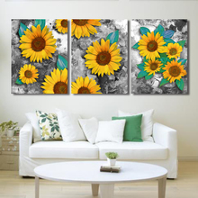 Laeacco Canvas Calligraphy Painting Botanical Sunflower Garden Posters and Prints Wall Artwork Bedroom Living Room Decoration