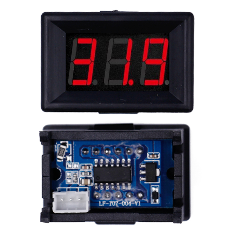 DC 2.4V-30.0V Voltmeter Tester High Quality 0.36 Inch LED Digital Suitable For Car Motorcycle Panel Volt Electrical Meter 46%off