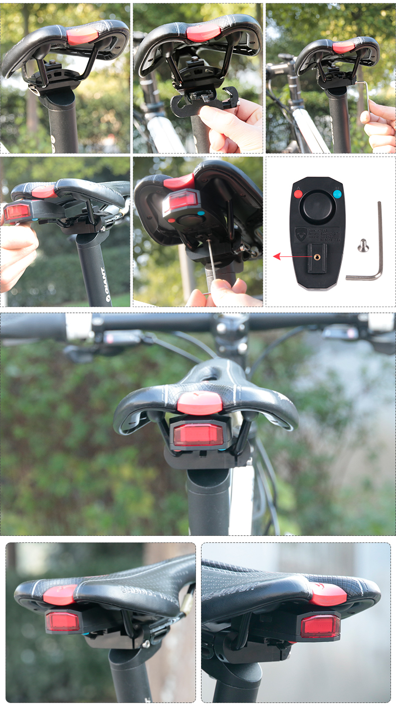 #1 Top Rated - 4 in 1 Anti-Theft Bicycle Alarm