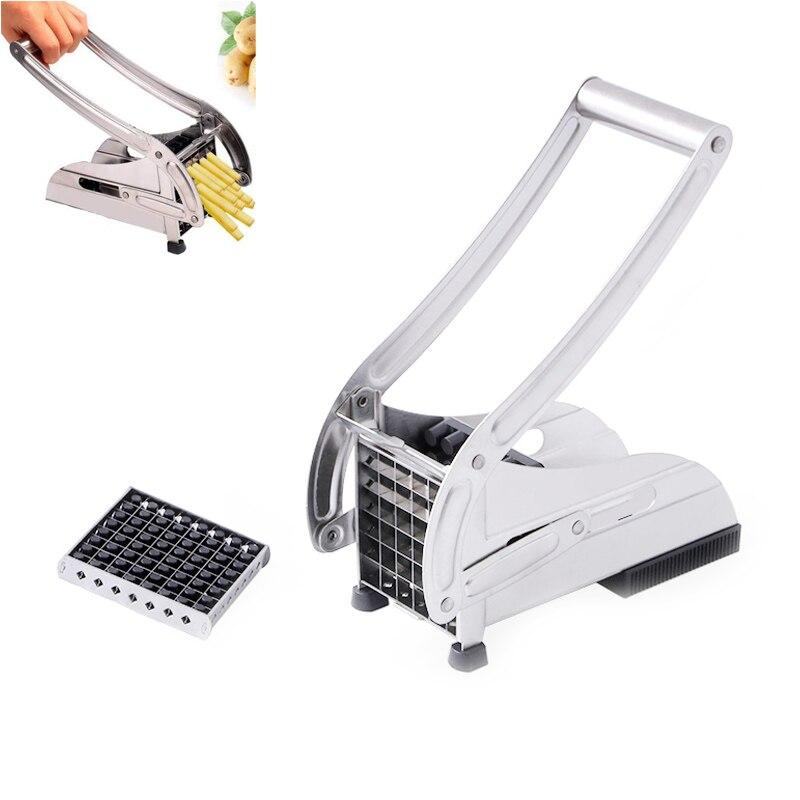 Kitchen Gadgets Cuisine Stainless Steel Household Potato Bar Cutting Machine Man
