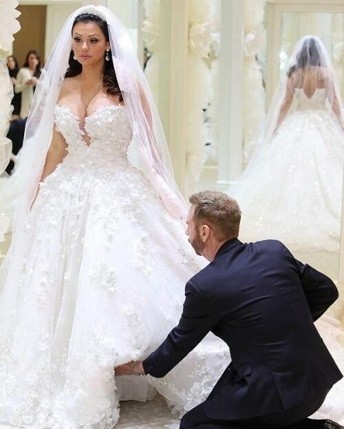 amor magnífico sin respaldo vestidos novia con flores hechas a mano