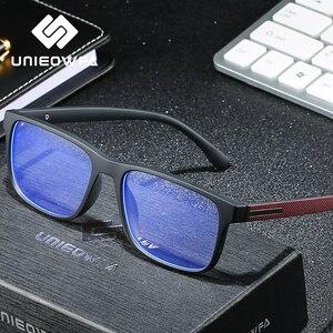 Image 2 - ברור שקוף מחשב משקפיים גברים מסגרת אנטי כחול אור חסימת משקפיים מסגרת TR90 קוצר ראייה אופטית משקפיים תואר
