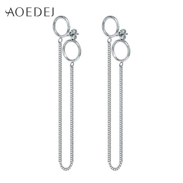 AOEDEJ Geometric BTS Earrings V Bangtan 2 Layers Long Tassel Earrings For  Womens Mens Stainless Steel 5f8b5af827