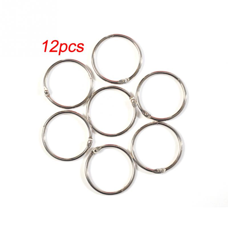 12pcs Shower Curtain Ring Rustproof Hooks 45mm Glide Metal Rings For Bathroom Rods