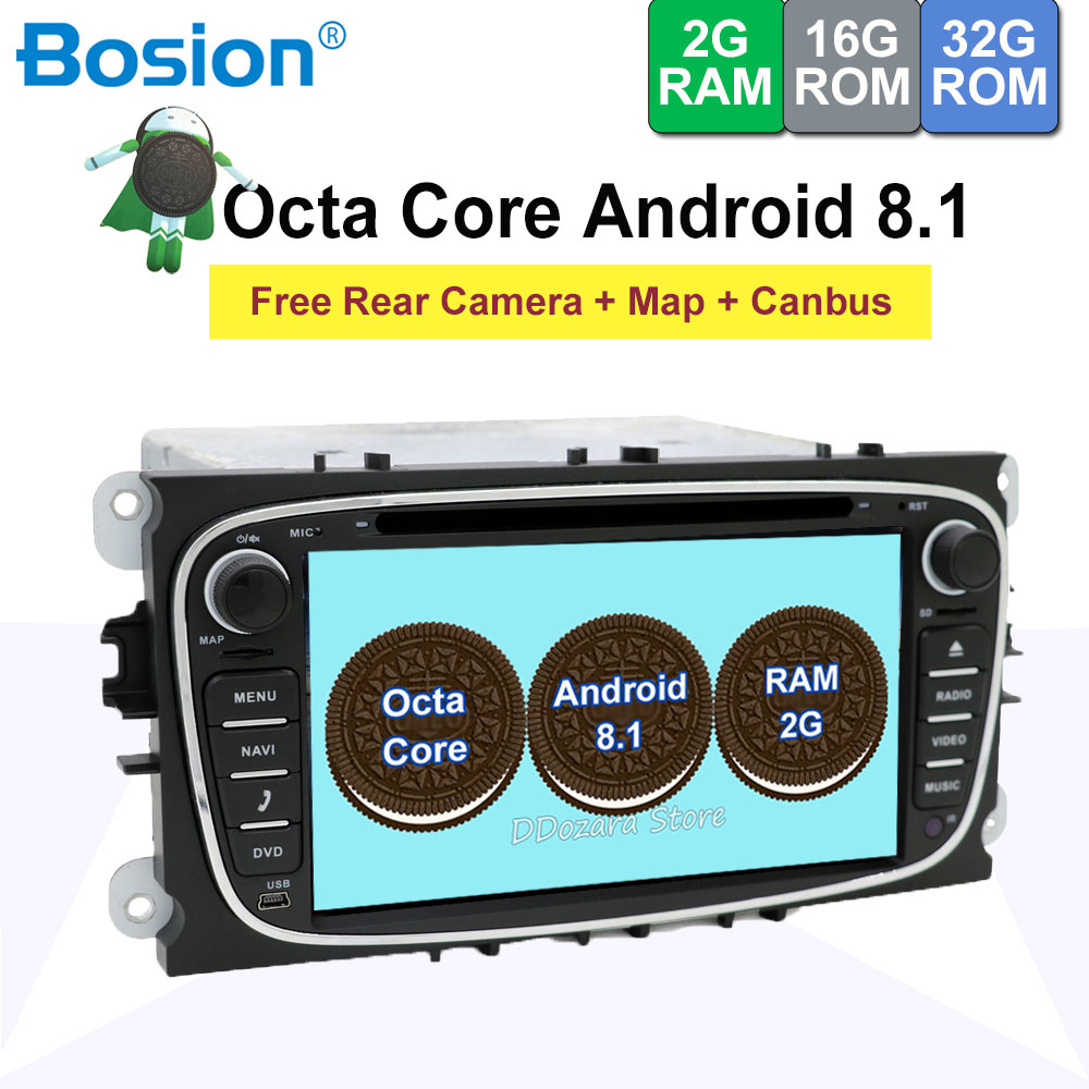 2 din 7 Android 8.1 Octa Core Car DVD Player Radio GPS USB Navigation for Ford Focus II Mondeo S-Max C-Max Galaxy Camera2 din 7 Android 8.1 Octa Core Car DVD Player Radio GPS USB Navigation for Ford Focus II Mondeo S-Max C-Max Galaxy Camera